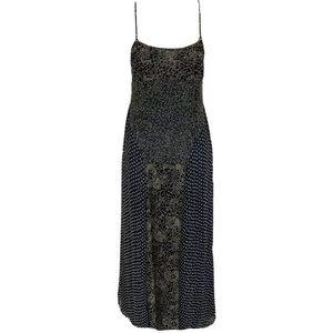 Anthropologie Sleeveless Printed Maxi Dress